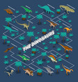 dinosaurs isometric infographics vector image vector image