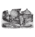 egyptian household items is an of various vintage vector image vector image