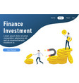 flat design web page templates of finance busines vector image vector image
