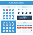 Flat UI basic design elements set vector image