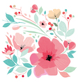 Floral background in pastel colors vector image vector image