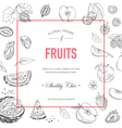 Fruit Frame Invitation Card Wedding Card vector image