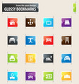 furniture bookmark icons vector image vector image