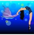 Girl gymnast Beautiful silhouette gymnast vector image vector image