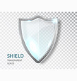 glass shield sign security glass label privacy vector image