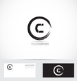 Grunge letter c circle logo vector image vector image