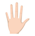 hand human open icon vector image vector image