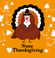 happy thanksgiving logo with turkey vector image