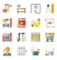 Home Repair Flat Icons Collection vector image vector image