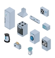 Household appliances isometric icons set with vector image vector image