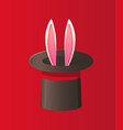 magical performance with rabbit illusion vector image