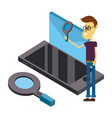 man and email cartoons vector image vector image