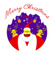 merry christmas symbol santa claus vector image vector image