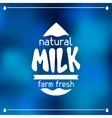 Milk emblem design on abstract mesh background vector image vector image