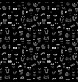 owl eyes and wings seamless pattern vector image