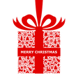 patterned gift isolated vector image vector image