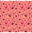 Pet paws imprints Abstract seamless pattern vector image