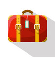retro red suitcase isolated on white background vector image vector image