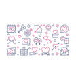 saint valentines day outline vector image vector image