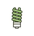 saving light bulb environment ecology line and vector image