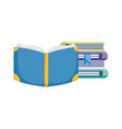 school books encyclopedia knowledge isolated icon vector image