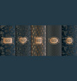 set of golden luxury templates abstract geometric vector image