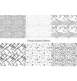 set of monochrome geometric patterns seamless vector image vector image
