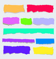 set of torn colored paper torn pieces of color vector image vector image