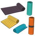 set of yoga mat vector image