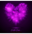 Shiny lights abstract heart vector image vector image