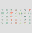 shopping icons 03 vector image vector image