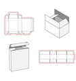 simple box packaging die cut out template design vector image vector image