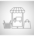 smartphone e-commerce basket bag shop delivery vector image vector image