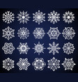 snowflake winter christmas snow crystal elements vector image