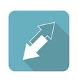 Square opposite arrows icon vector image