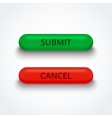 Submit and cancel 3d buttons vector image