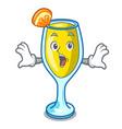 surprised mimosa mascot cartoon style vector image vector image