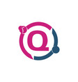 teamwork sharing dating initial q vector image vector image