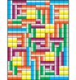 Tetris puzzle game vector image vector image