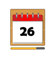 The Twenty-six days on the calendar vector image vector image