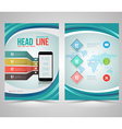 Trendy Graphic Design Layout with smart phone conc vector image vector image