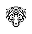 tribal bear black animal print for t vector image vector image