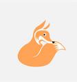 unique fox logo design vector image