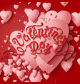 valentines day card elegant vector image vector image