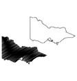 victoria australia map vector image