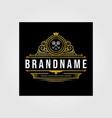 vintage premium retro brand logo business design vector image vector image