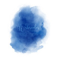 watercolor hand painted abstract blue cloud design vector image vector image