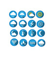 Weather round web icons for websites vector image
