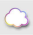 white cloud background template with colorful vector image