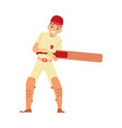 young male cricket player cricketer or batsman in vector image vector image